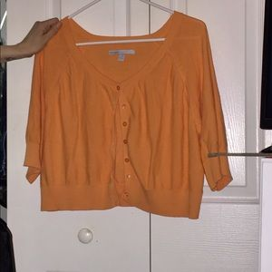 Orange crop cardigan